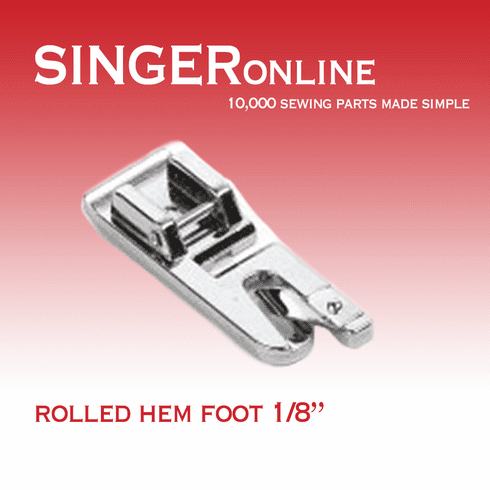 """1/8"""" Snap-on Style Hemmer Foot"""