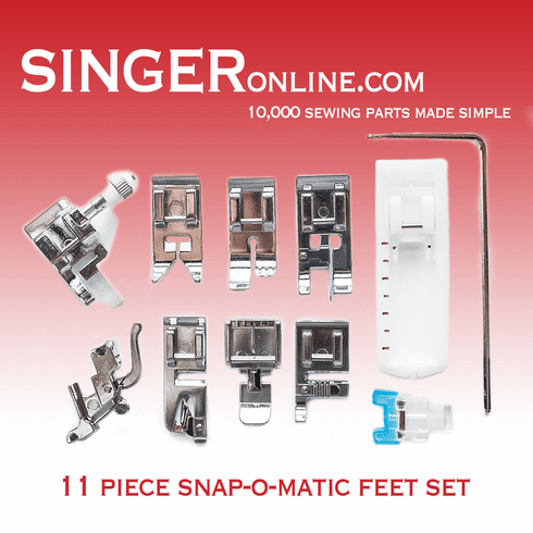 11 Piece Snap-O-Matic Feet Set, 5011-L