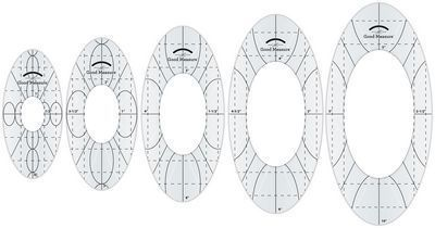 Amazing Oval Rulers Low Shank Set of 5