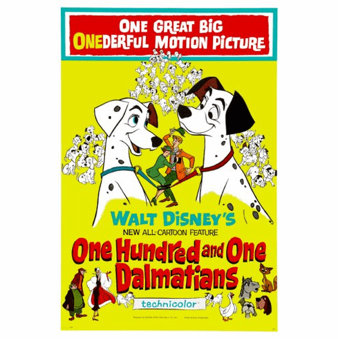 101 Dalmations Movie Poster 24x36