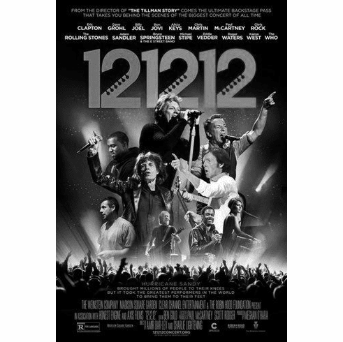 "12 12 12 Concert Movie Black and White Poster 24""x36"""