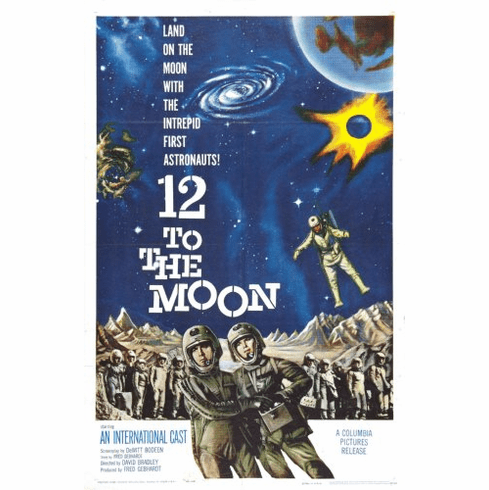 12 To The Moon Movie Poster 24x36