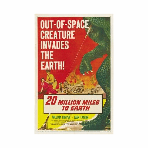 20 Million Miles To Earth Movie Poster 11x17 Mini Poster