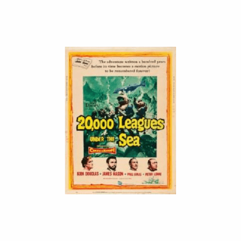 20000 Leagues Under The Sea Movie Poster 11x17 Mini Poster