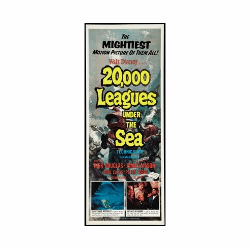 20000 Leagues Under The Sea Movie Poster Insert 14x36 #01