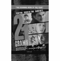 """21 Grams Black and White Poster 24""""x36"""""""