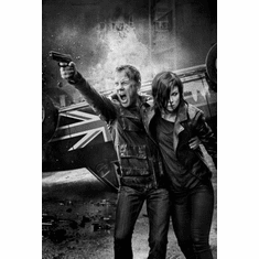 """24 Live Another Day Black and White Poster 24""""x36"""""""