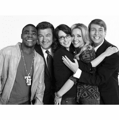 "30 Rock Black and White Poster 24""x36"""