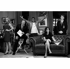"""30 Rock Black and White Poster 24""""x36"""""""