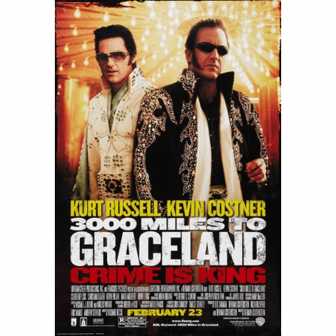 3000 Miles To Graceland Movie Poster 24x36