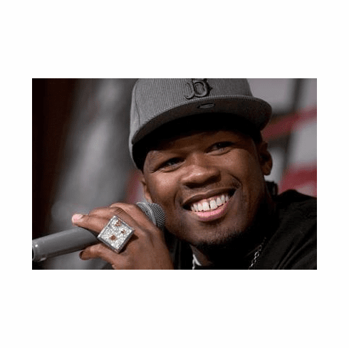 50 Cent Poster Hz Microphone 24in x36 in
