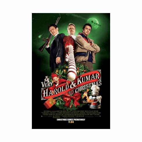 A Very Harold And Kumar Christmas Movie mini poster 11x17 #01