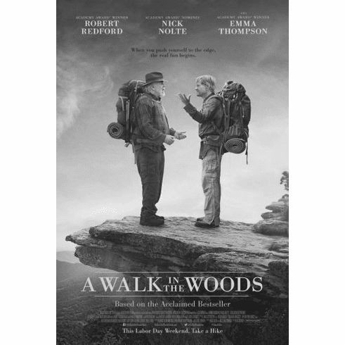 "A Walk In The Woods Black and White Poster 24""x36"""