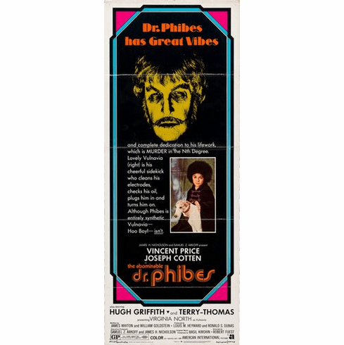 Abominable Dr Phibes 14inx36in Insert Movie Poster