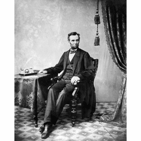 """Abraham Lincoln Black and White Poster 24""""x36"""""""