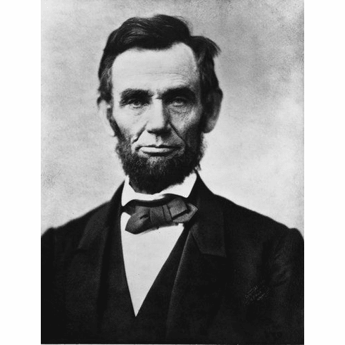 "Abraham Lincoln Black and White Poster 24""x36"""