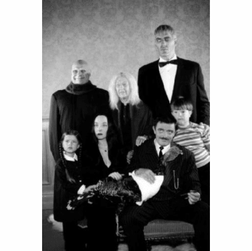 "Addams Family Black and White Poster 24""x36"""