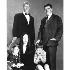 """Addams Family Black and White Poster 24""""x36"""""""