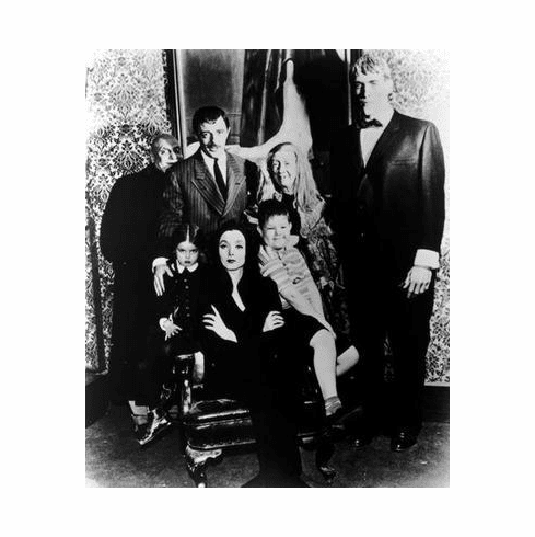 Addams Family Tv Poster Bw 24in x36 in