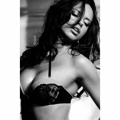 "Adriana Lima Black and White Poster 24""x36"""