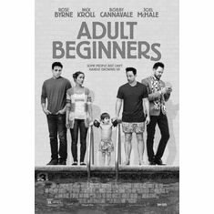"Adult Beginners Black and White Poster 24""x36"""