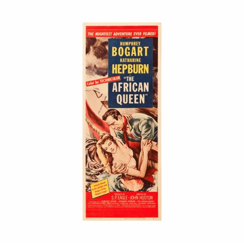 African Queen The Movie Poster Insert 14x36 #01
