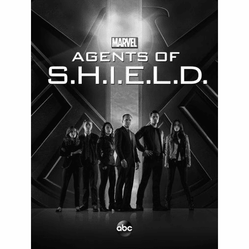 "Agents Of Shield Black and White Poster 24""x36"""