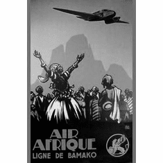 "Air Afrique Black and White Poster 24""x36"""