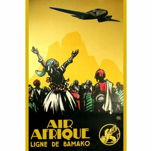 Air Afrique Mini poster 11inx17in