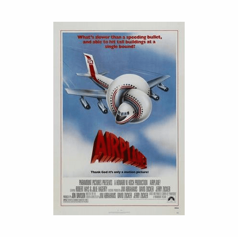 Airplane Movie Poster 24in x36 in