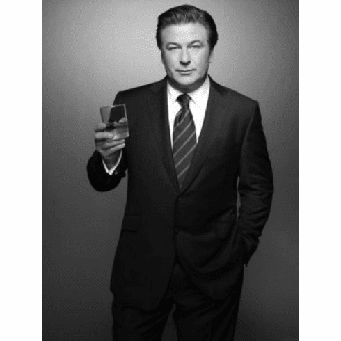 "Alec Baldwin Black and White Poster 24""x36"""