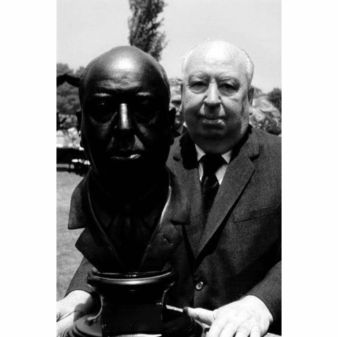 """Alfred Hitchcock Black and White Poster 24""""x36"""""""