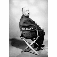 "Alfred Hitchcock Black and White Poster 24""x36"""