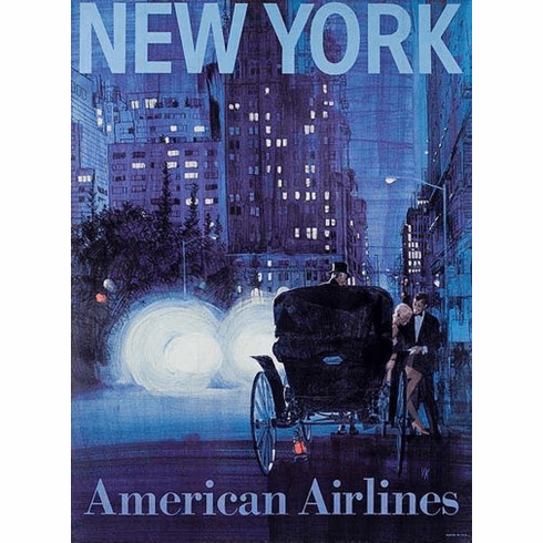 American Airlines New York Poster 24in x36in