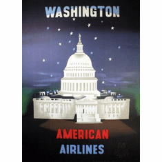 American Airlines Washington Dc Mini poster 11inx17in