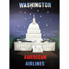 American Airlines Washington Dc Poster 24in x36in