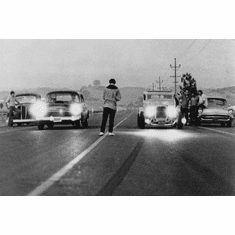 "American Graffiti Black and White Poster 24""x36"""