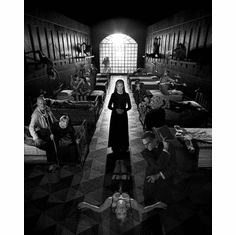 "American Horror Story Black and White Poster 24""x36"""