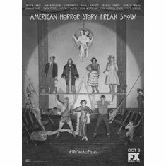 """American Horror Story Freakshow Black and White Poster 24""""x36"""""""
