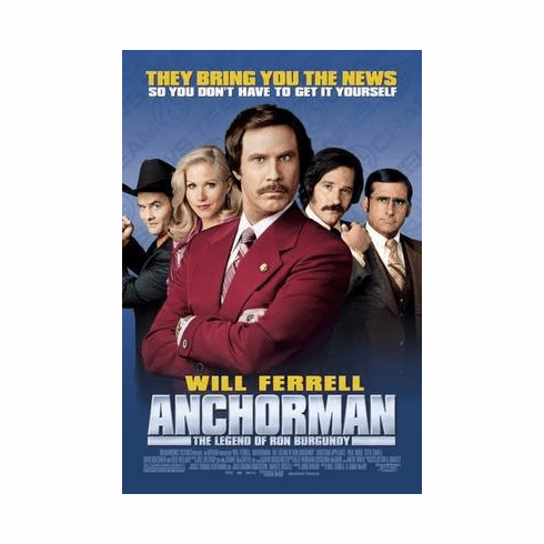 Anchorman Movie Poster Ron Burgundy 24in x36 in