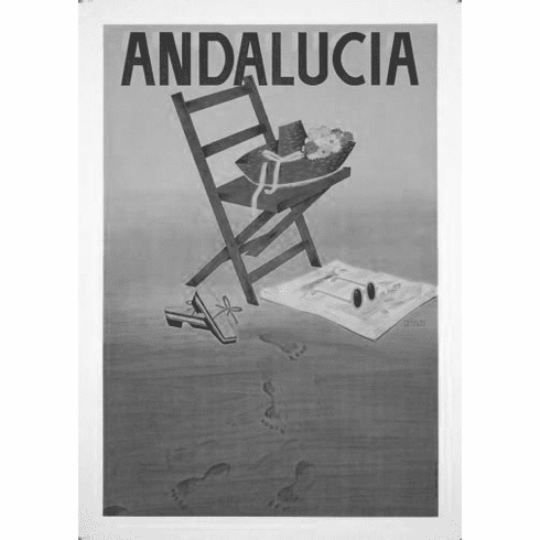 """Andalusia Black and White Poster 24""""x36"""""""