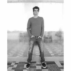 "Andrew Garfield Black and White Poster 24""x36"""