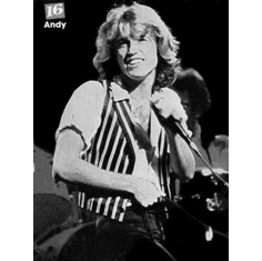 "Andy Gibb Black and White Poster 24""x36"""