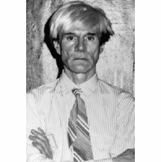 "Andy Warhol Black and White Poster 24""x36"""