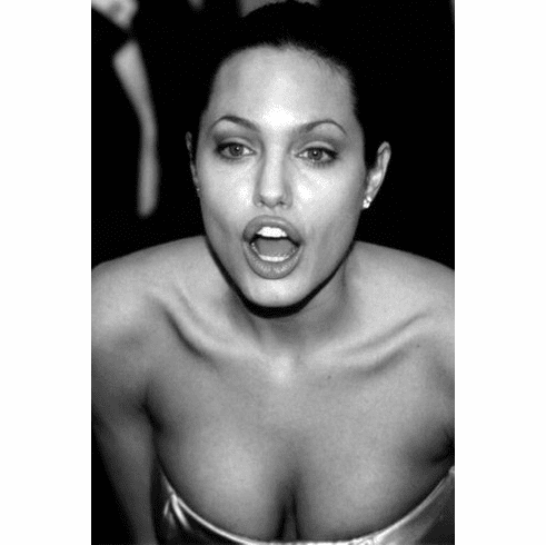 "Angelina Jolie Black and White Poster 24""x36"""