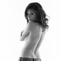 """Anna Friel Black and White Poster 24""""x36"""""""