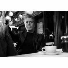 """Anthony Bourdain Black and White Poster 24""""x36"""""""