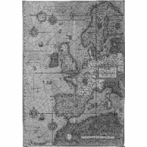 """Antique Maps Black and White Poster 24""""x36"""""""