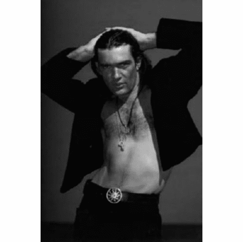 "Antonio Banderas Black and White Poster 24""x36"""