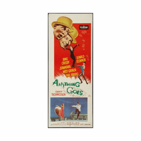 Anything Goes Movie Poster Insert 14x36 #01